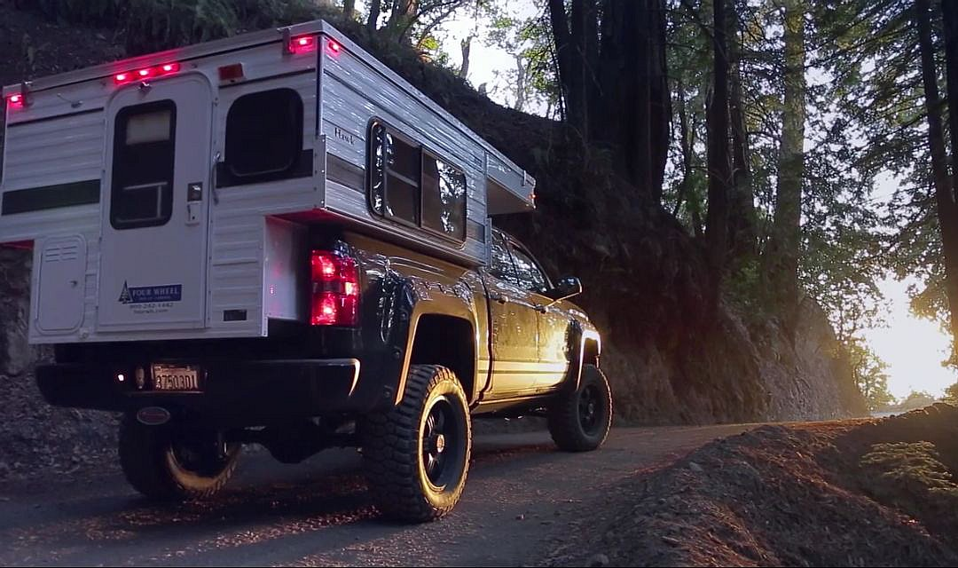 2014 GMC Sierra With Pop Up Camper Shell