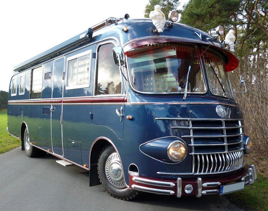 8 Mercedes Benz OP8 Salamander Bus Wohnmobil / Wohnmobil Kult