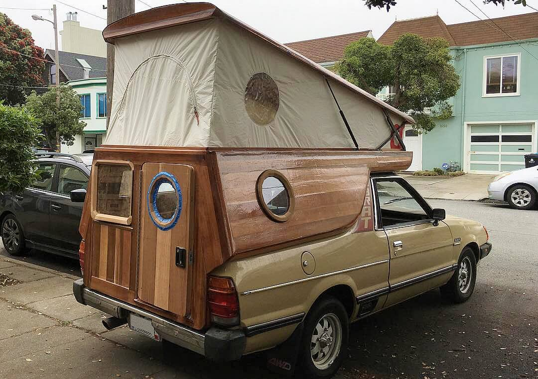 1982 Subaru Brat Wooden Camping Cabin